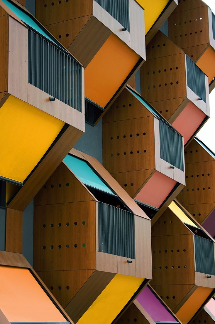1. Two social housing blocks called Honeycomb Apartments by OFIS in Izola, Livade Slovenia.