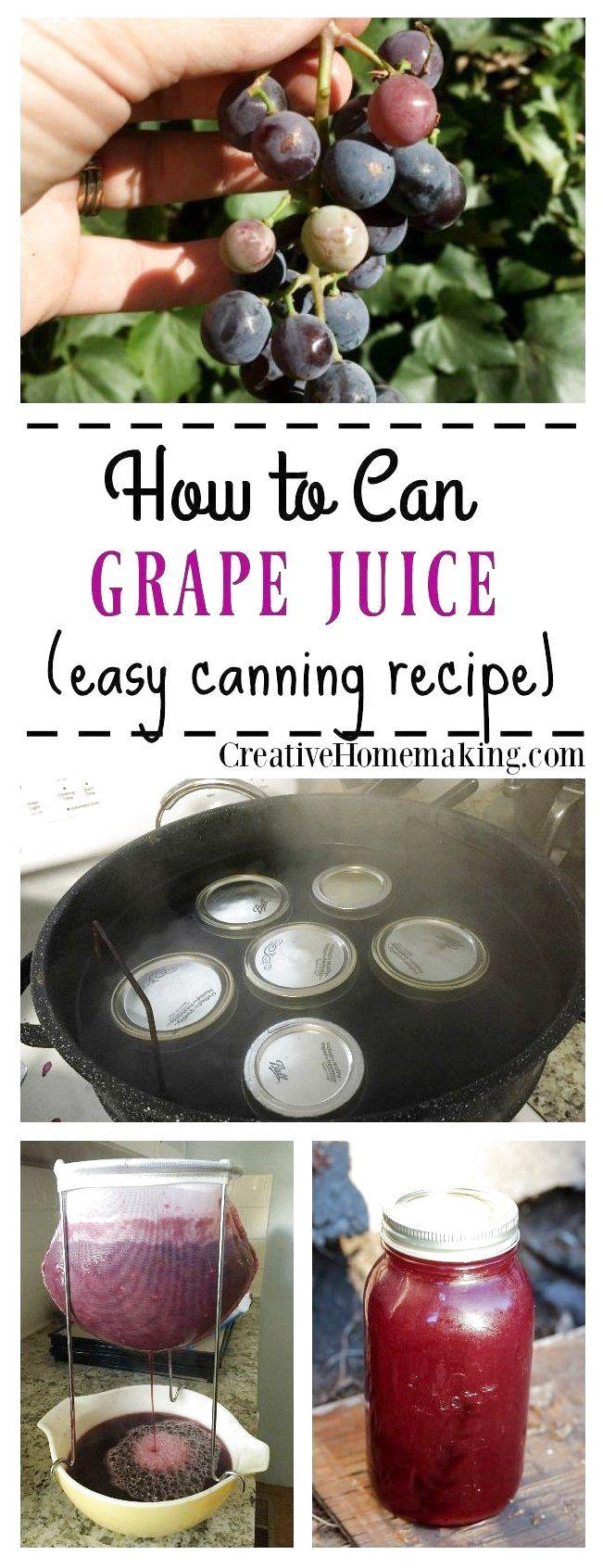 Einfaches Rezept zum Einmachen von altmodischem hausgemachtem Traubensaft Erfahren Sie, wie man …   – Fruity Smoothie Recipes