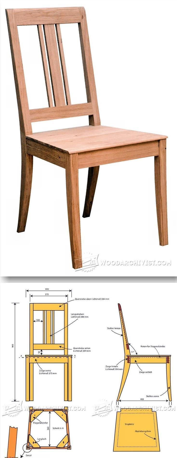 1418 best cadeiras poltronas e bancos images on pinterest for Free dining chair plans