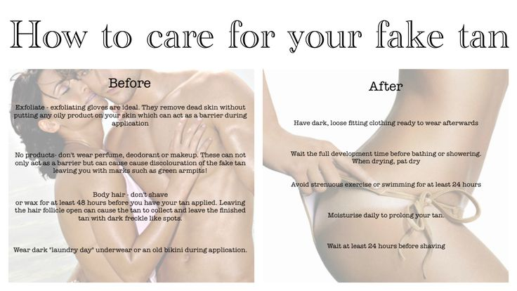 Fake tan preparation and aftercare Best tanning lotion