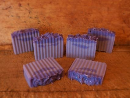 Lilac goat's milk soap, made the old process way! Country Cabin Candles & Soaps