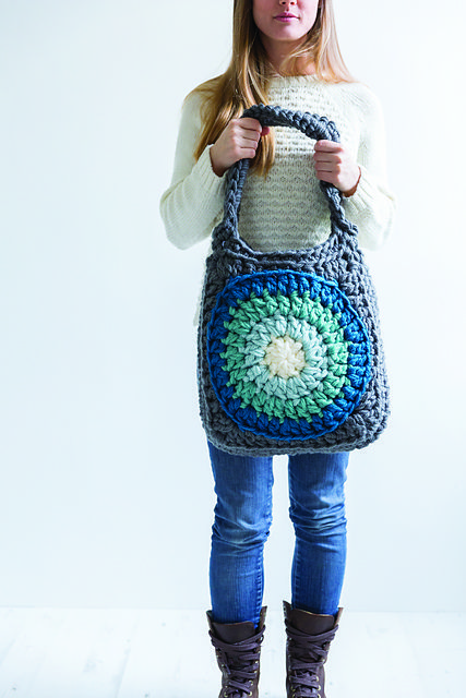 Ravelry: Ombré Circles Tote Bag pattern by Annaboo's House