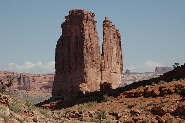 アーチーズ国立公園, 風景, モアブ, ユタ州, 公園, 国家, 石, アーチ, アメリカ, 砂岩, 自然