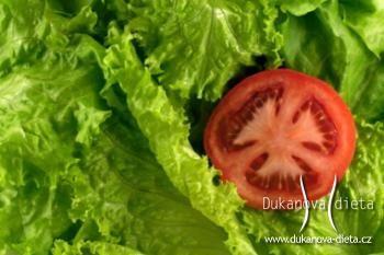 Hlávkový salát s rajčaty Dukanova dieta