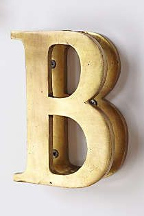 Anthropologie - Monogram Doorknocker