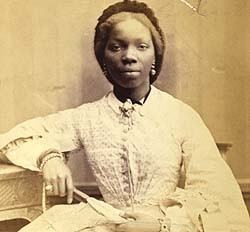 "Sarah Forbes Bonetta was a child born into a royal West African dynasty. She was orphaned in 1848, when her parents were killed in a brutal Nigerian slave-hunting war. She was captured and later given to Queen Victoria by Captain Fredrick. E. Forbes of the Royal Navy who received Sarah as a gift from King Ghezo of Dahomey. Mr. Forbes then gave her to Queen Victoria as a ""gift"". Very interesting account of her life at this website."