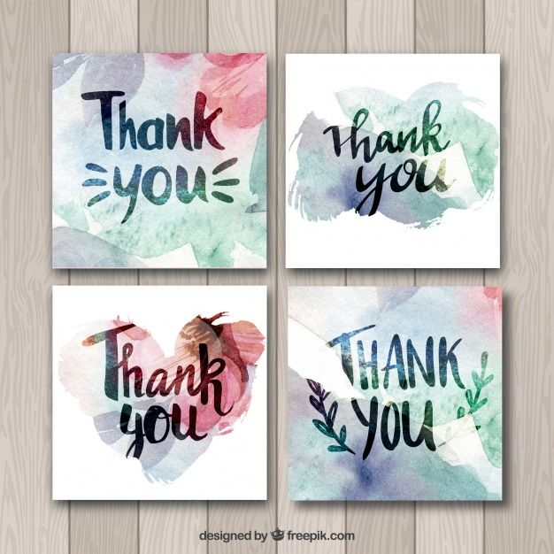 Download Watercolor Thank You Cards Collection For Free Diy Note