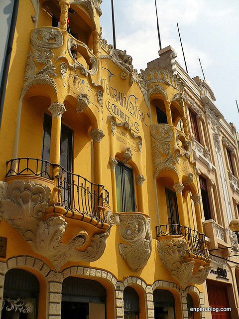 Casa Courret, art nouveau architecture in central Lima, Peru