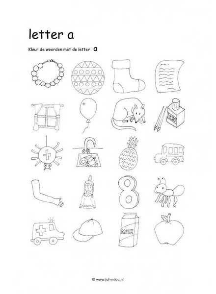 Dit werkblad en nog veel meer in de categorie letters