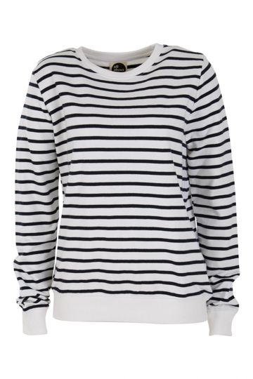 All About Eve Elise Stripe Crew Jumper - Womens Sweats & Hoodies - For everything but the girl