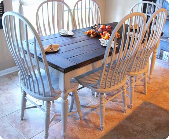 Paint And Stain Farmhouse Dining Set Inspired By Pottery