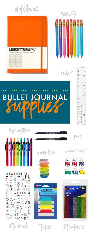 Tracy from Shutterbean.com shares her favorite Bullet Journal Supplies!