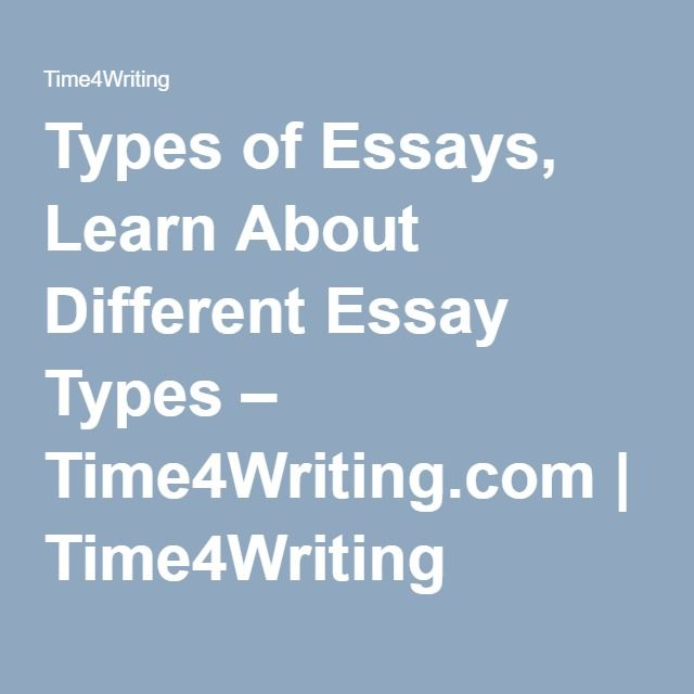 Example Of A Good Thesis Statement For An Essay Types Of Essays Learn About Different Essay Types  Timewritingcom   Timewriting Personal Essay Examples For High School also Topics For Essays In English Best  Types Of Essay Ideas On Pinterest  Essay Transition  Health Is Wealth Essay