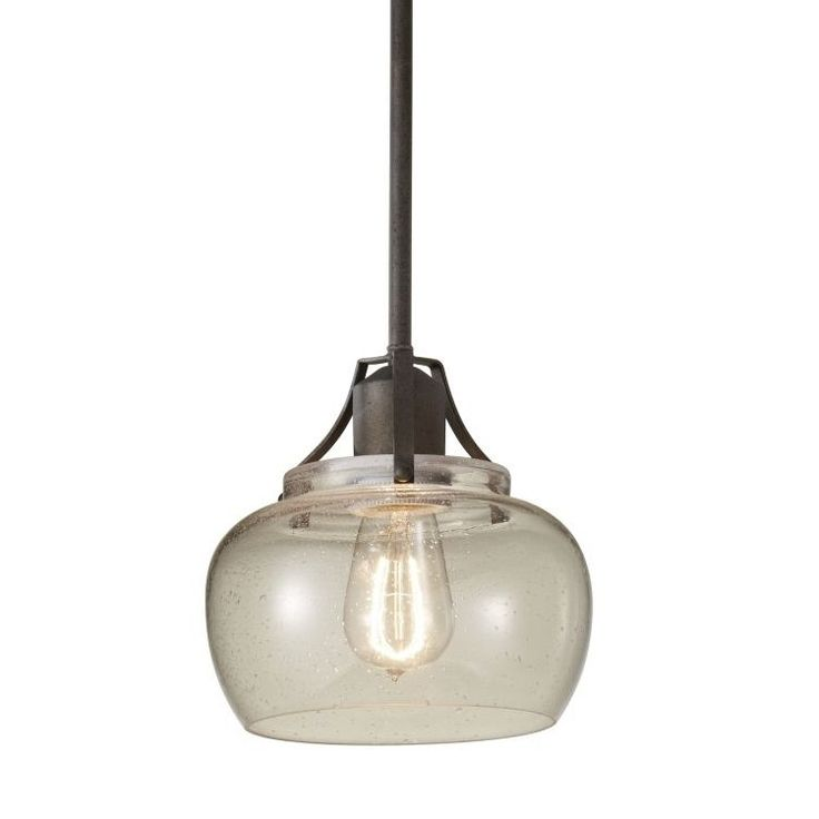 Buy the murray feiss rustic iron direct shop for the murray feiss rustic iron urban renewal 1 light mini pendant with clear seeded glass and save