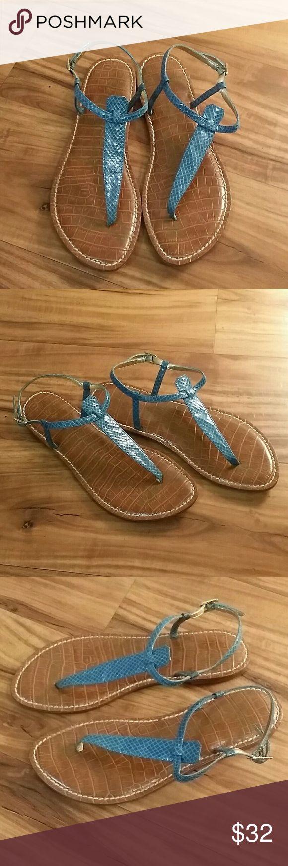 Sam Edelman Gigi thong sandals Excellent condition Sam Edelman sandals in a pretty greenish blue color. Size 7.5 Sam Edelman Shoes Sandals