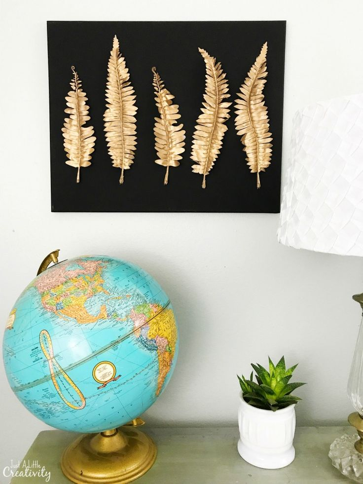 How to create your own metal leaf wall art