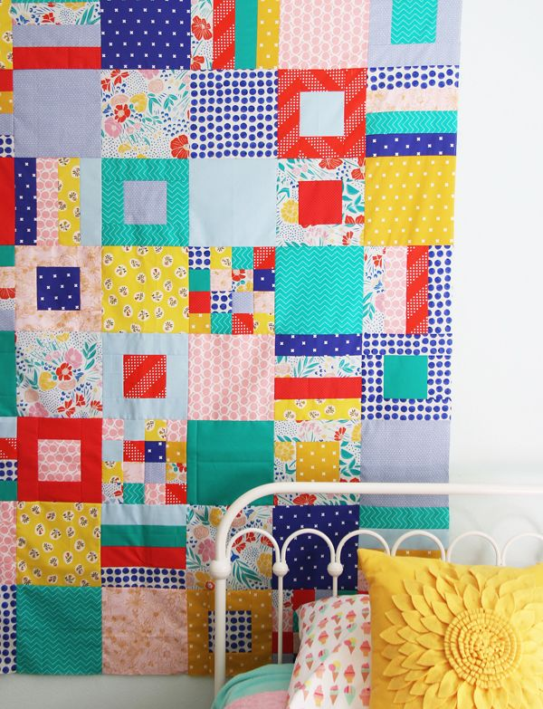 Summer Squares and Strips Quilt (Cluck Cluck Sew)