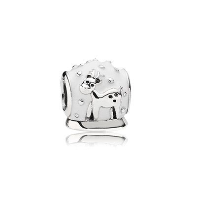 Celebrate the holiday spirit with a snow globe charm #PANDORAcharm #Christmas