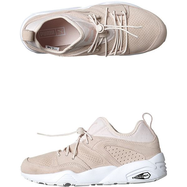 Puma Womens Blaze Of Glory Shoe (450 BRL) ❤ liked on Polyvore featuring shoes, sneakers, footwear, pink, womens footwear, elastic shoes, synthetic shoes, puma shoes, pink shoes and puma footwear