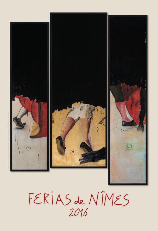 Affiche Féria 2016 -  Jean Michel Alberola - Nîmes