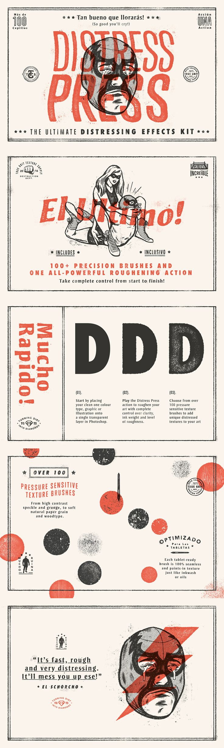 Distress Press: The Ultimate Distressing Effects Kit + Tutorial - Extras - YouWorkForThem