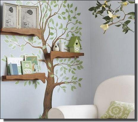 Fa -  Falfestmény ötletek a nagyvilágból, falfestés, faldekor, gyerekszoba, mesefal