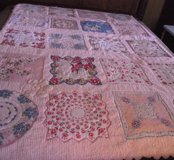 Chenille & hankies.  Would be great to cover old chenille that has spots or worn places.