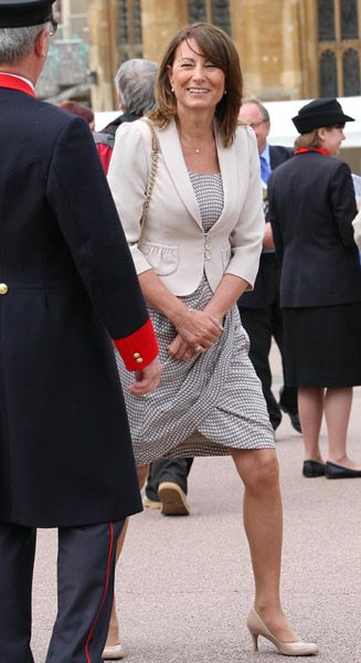 Carole Middleton attends the Order of the Garter service