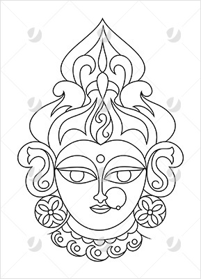 Durga - the fierce Mother of the Universe who inspires determination and confidence, allowing freedom from fear.