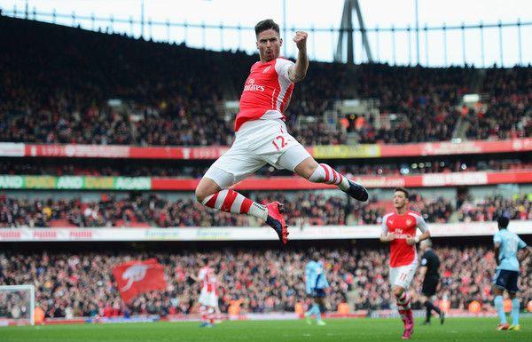 Olivier Giroud in Arsenal v West Ham United - Premier League