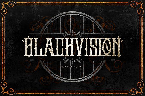 The Black vision, classy & elegant. Great combination with the alternative glyphs