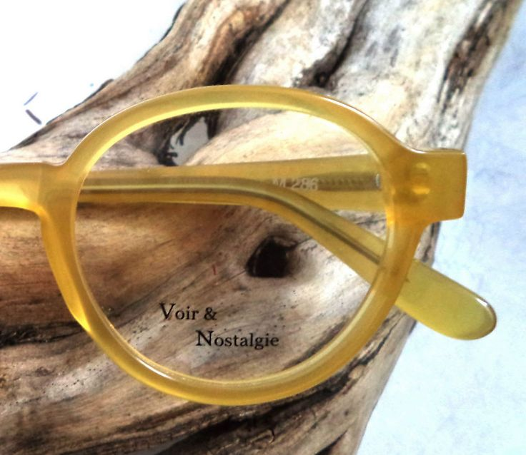 Voir & Nostalgie Round eyeglasses New Rare Amber Peck Pantos Unisex sunglasses  | eBay