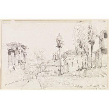Scutari (Drawing) Turkey Sir George Scharf 1844