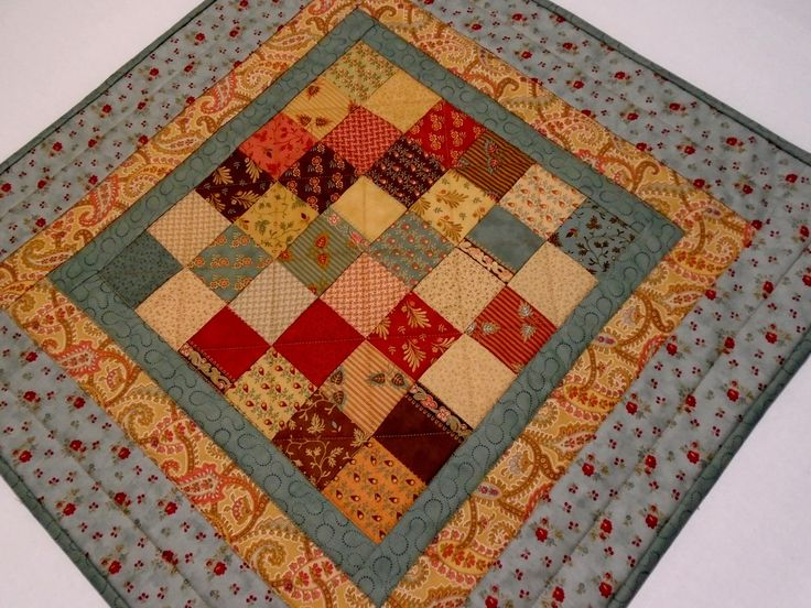 Primitive Quilted Table Topper, Civil War Reproduction Quilted Table Runner, Handmade Table Topper, Patchwork Quilted Table Topper, Teal by ForgetMeNotQuilteds on Etsy