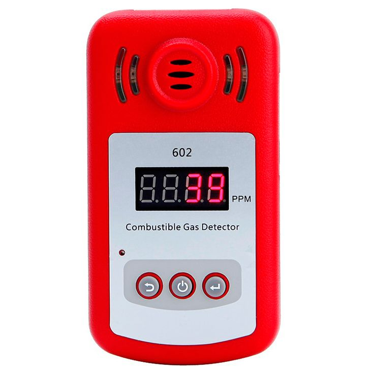 KXL-602 Mini medidor de fugas de gas analizador detector de gas combustible portátil con sonido y luz de alarma