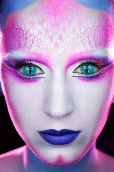 Futuristic Makeup Full Face