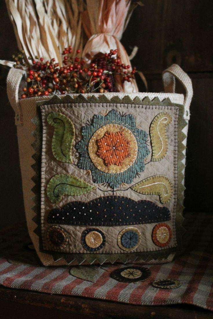 Wooly Basket by Rebekah L. Smith www.rebekahlsmith.com