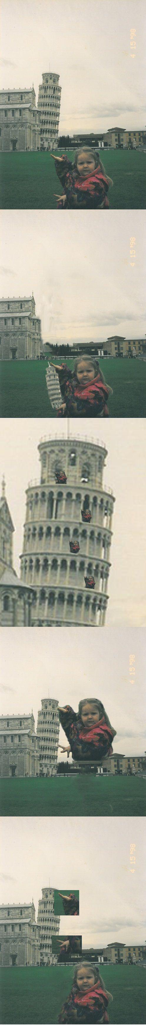 Ahhhhh morí mori mori mori mori! JAJAJAJAJAJA | #Nina #Foto #Photoshop #Girl #Italia #Torre #Pizza #tocar #pose #Day #Lol