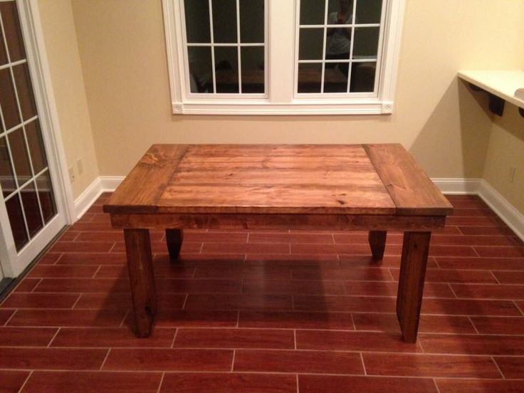 custom colonial table stained in early american