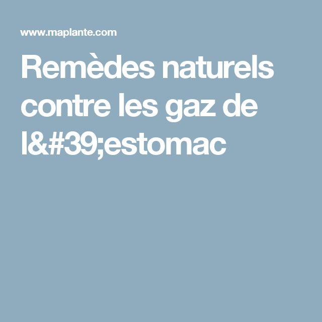 Remèdes naturels contre les gaz de l'estomac