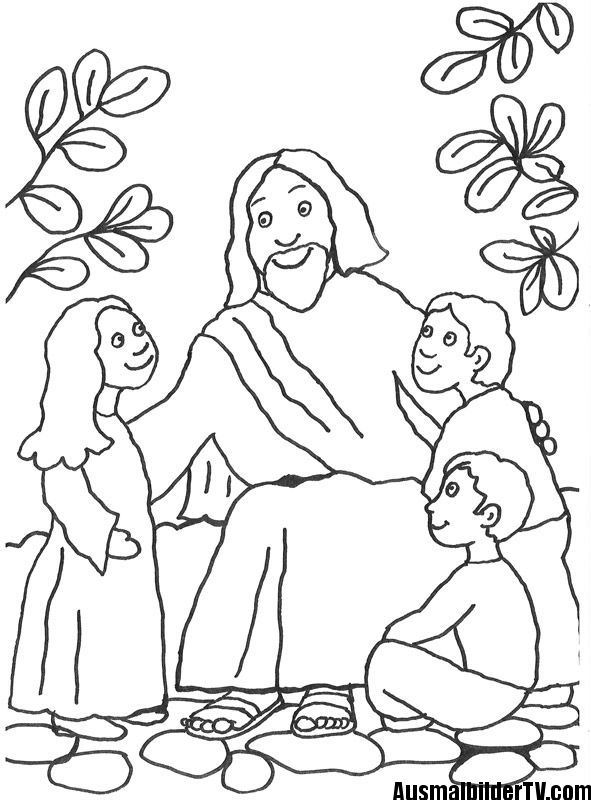 Pin Auf Ausmalbilder Jesus