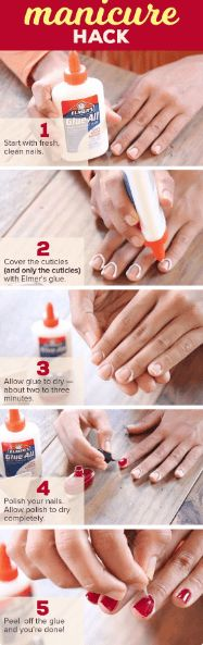 cool Here's how glue will give you a perfect manicure