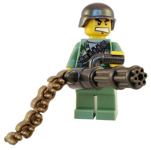 LEGO Soldiers | ... Military Support Chaingun Marine - Custom Lego Army Minifigure from