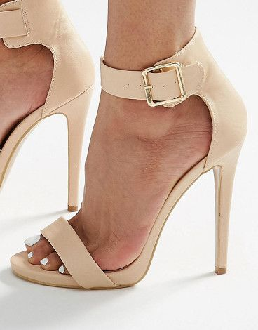 On SALE at 40% OFF! Truffle 2 part heeled sandals by Truffle Collection. Shoes by Truffle, Textile upper, Ankle-strap fastening, Pointed high heel, Wipe clean, 100% Textile Upper.