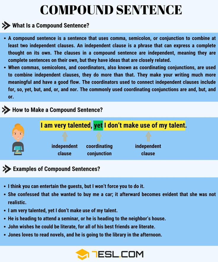 Compound Sentence Definition And Examples Of Compound