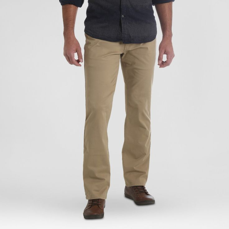 Wrangler Men's Straight Fit Jeans with Flex - Fawn 36x34