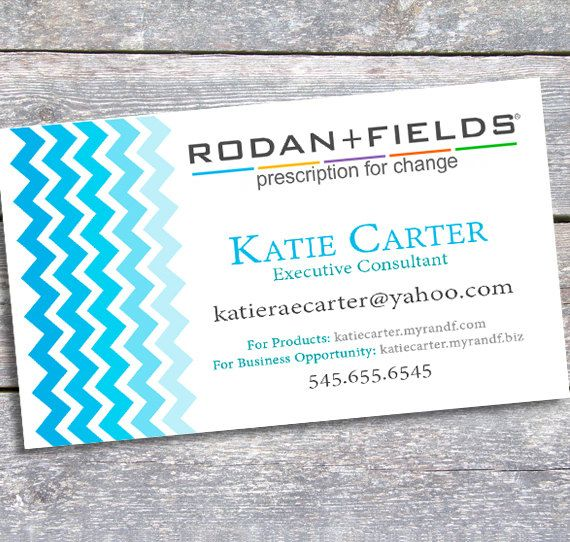 rodan and fields business card printable digital by