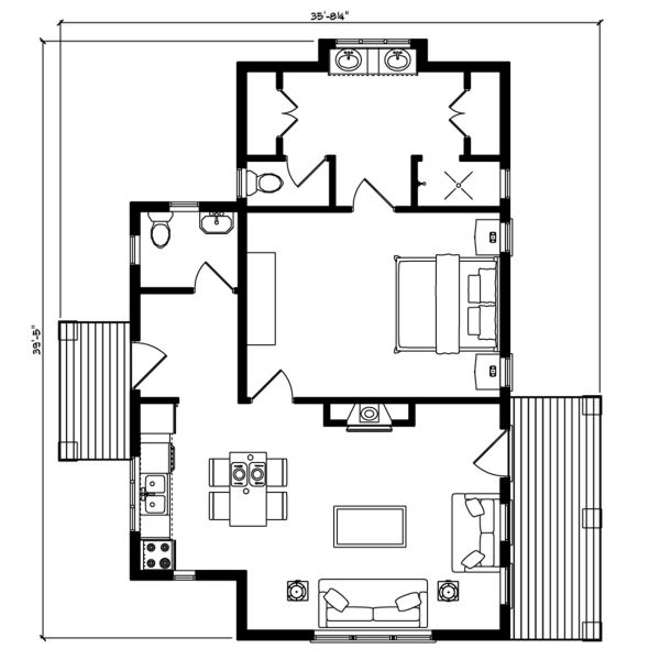 12 best adu floor plans images on pinterest small home for House plans with adu