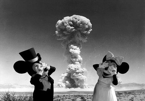 The new Disney World A bomb show featuring Minnie and Mickey. See it soon from a safe distance. This will definitely be a limited engagement!