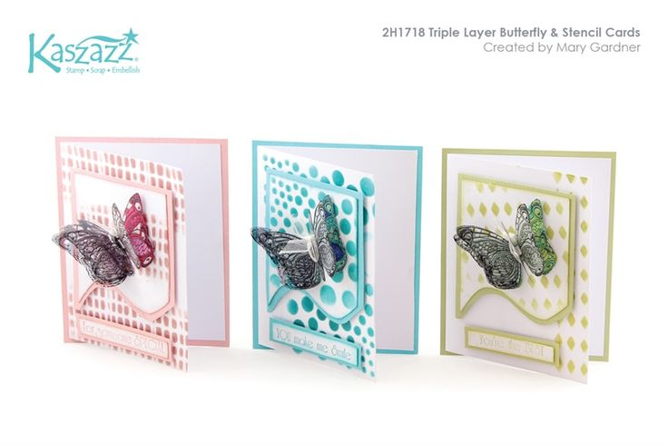 2H1718 Triple Layer Butterfly & Stencil Cards